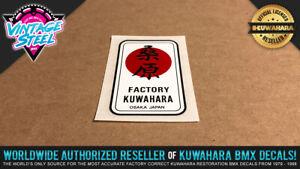 NEW Kuwahara 'KANJI HEAD TUBE' Vintage BMX Decal Sticker 1984 - 1985 - Laserlite