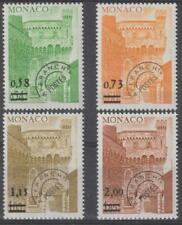 Monaco 1978 #1095-98 Tower - MNH, surcharged
