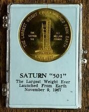 """SATURN """"501"""" / VAB COIN WITH INFORMATION INSERT IN SNAP TITE PRESENTATION CASE"""