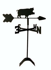 Pig Weathervane Black Wrought Iron LOOK Roof Mount Made in USA Tls1032rm
