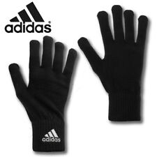 Adidas Gloves Knitted Running Sports Gym Winter Football Soft Warm Adults Black