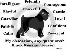 Black Russian Terrier Dog My Obsession, Questions? T-shirt Choice size color