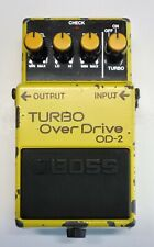 BOSS OD-2 TURBO Over Drive Guitar Effects Pedal 1987 #88 DHL Express or EMS