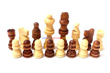 New Wooden Chess Set 32 Pieces - King 6.8cm Ht. (Pieces Only) Total Weight 130g
