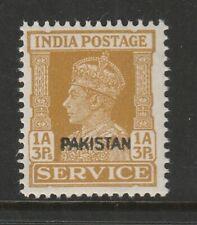 Pakistan 1948 1a3p India Service bistre overprinted Pakistan CW O13a Mnh.