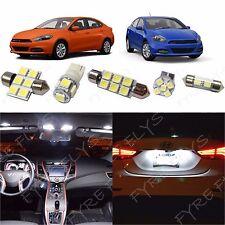 6x White LED lights interior package kit for 2013-2016 Dodge Dart DD2W