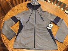 Dallas Cowboys NFL Women's Performance Charcoal Full Zip Hoodie Jacket, Small