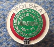 POLAND TEAM WORLD CUP MUNICH MUNCHEN FOOTBALL FUSSBALL SOCCER 1974 SCREW PIN