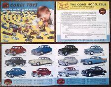 Vintage Lieferprogramm / Prospekt 1958 : CORGI TOYS