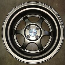"""FelgenWerks FW .001 Satin Bronze 15x9 4-100 +0 4.5"""" LIP Honda Acura VW EK Civic"""