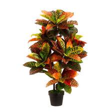 Artificial 110cm Croton Outdoor UV Topiary Tree Bush Palm Plant Pot Pool Patio