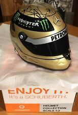 Michael Schumacher 1/2 Schuberth mini casque-Spa or 2011 20th Anniversaire