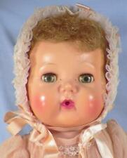 American Character Tiny Tears Doll Hard Plastic Head Vinyl Body 15in Dress Hat