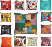 "Indian Handmade Kantha Khambodia Patch Cushion Cover Decor Sofa Pillow Case 16"""