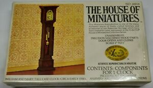 The House of Miniatures Wm & Mary Tall Clock #40018 Sealed