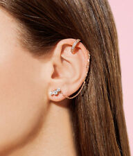 HENRI BENDEL LUXE UPTOWN SWAG EAR CUFFS ROSE GOLD NEW NO TAG