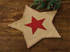 Country Christmas Burlap Star Accent Mat Primitive NEW