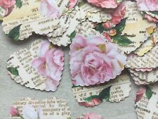 100 VINTAGE STYLE NEWSPAPER PRINT ROSE PAPER WEDDING TABLE CONFETTI DECORATIONS