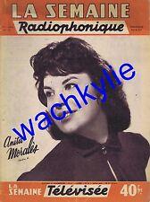 La semaine radiophonique n°35 du 30/08/1959 Anita Moralès