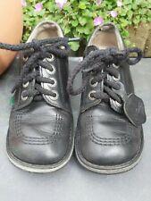 Black Kickers  Children's School Shoes. Size UK 1, EUR 33.