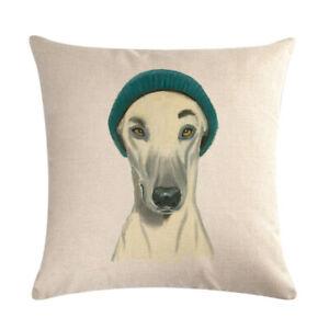 greyhound  hat dog dog  cushion cover new