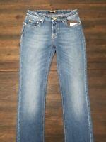 NWT Roberto Cavalli 4PJ218 Faded Regular Fit Demin Woman's Jeans