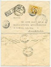 AOF FRANCE LIBRE WW2 to CAMEROUN MBALMAYO CENSORS + AIRMAIL HANDSTAMP