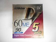 NEW Victor Cassette Mini DVC DVM60 Tape Video 60min 5 pack