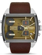 Diesel DZ7327 Mothership Men's Stainless Steel & Brown Leather Chronograph Watch