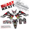 1995 - 2007 KDX 200 220 KAWASAKI MOTOCROSS GRAPHICS KIT DIRT BIKE BEAST: BLACK