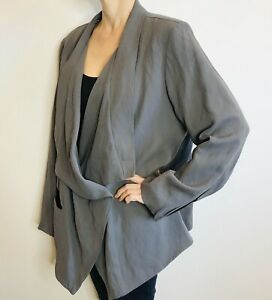 Nicola Waite Size 5 (18) Grey Jacket Made In Australia Designer Label