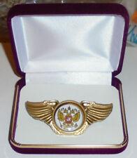 Royal Russian Romanov Empire Dynasty Eagle War Battle Wing Badge Medal Pin Czar