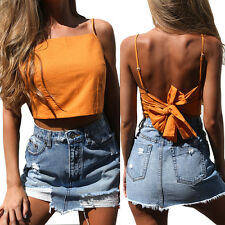 Fashion Summer Women Casual Tank Tops Vest Blouse Sleeveless Crop Tops Shirt New