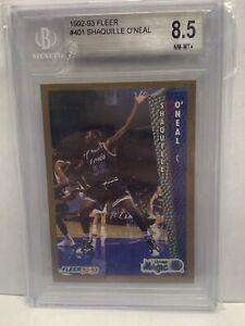 1992-93 Fleer #401 Shaquille O'Neal Orlando Magic BGS 8.5