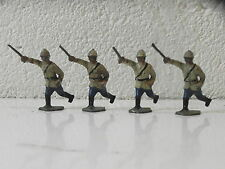 LOT 4 SOLDATS TROUPES COLONIALES WW1 14-18  plomb creux 45mm BF DC JF CBG LR SR