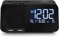 Alarm Clock with Fm Radio Night Light Digital Alarm Clocks for Bedrooms