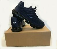 Mens TN Vapor Sneakers Air Cushion Trainers Running Shoes Navy Blue / Beige