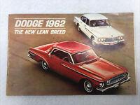 Dodge 1962 The New Lean Breed Dart and Lancer Dealer Sales Brochure 16 Pages