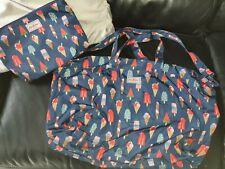 BNWOT cath Kidston Weekend Bag Foldaway Icecream Seaside Gift Idea