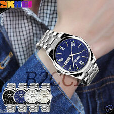 Mens Luxury Military Watch Stainless Steel Analog Date Sports Quartz Wrist Watch