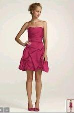 Davids Bridal Short Pink Bridesmaid Dress Color: Watermelon Size 12 LOOKS NEW!