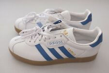 NEW adidas Mens Originals Gazelle Super Shoes Sneakers White Blue Sz 8 (CQ2798)