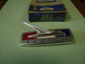 NOS 1964 FORD FALCON FRONT FENDER ORNAMENT EMBLEM RIGHT HAND