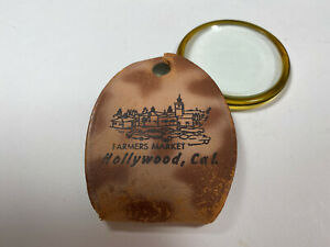 Vintage Magnifying Glass with Leather Cover from L.A's Farmers Market