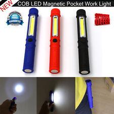 LED COB Bolígrafo Ligero Clip de bolsillo Imán RECARGABLE USB trabajo inspección