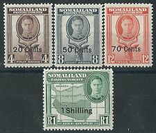 n224) Somaliland Protectorate.1951. MM.  SG 128/30/31/32. New Currency s'charge