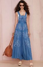 Alice McCall Maple Paloma Chambray Denim Overall Embroidered Sold By Free People