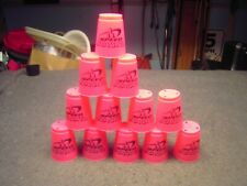 12 Pink WSSA Official SPEED STACKS Cups in Good Condition Stamped HM