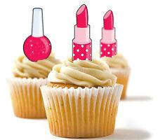 ✿ 24 Edible Rice Paper Cup Cake Toppings, Cake decs - Make-up ✿