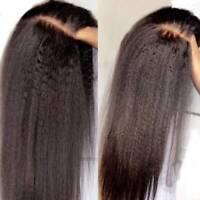 Yaki Kinky Straight 360 Lace Front Wig 100% Brazilian Human Hair Wig Glueless 6K